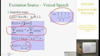 Speech and Audio Processing 1: Introduction to Speech Processing - Professor E. Ambikairajah