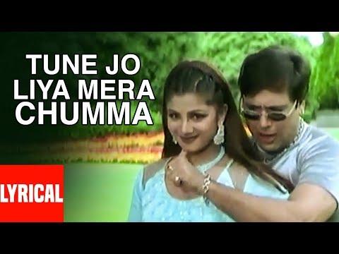 Tune Jo Liya Mera Chumma Lyrical Video | Beti No.1 | Anuradha Paudwal, Abhijeet | Govinda