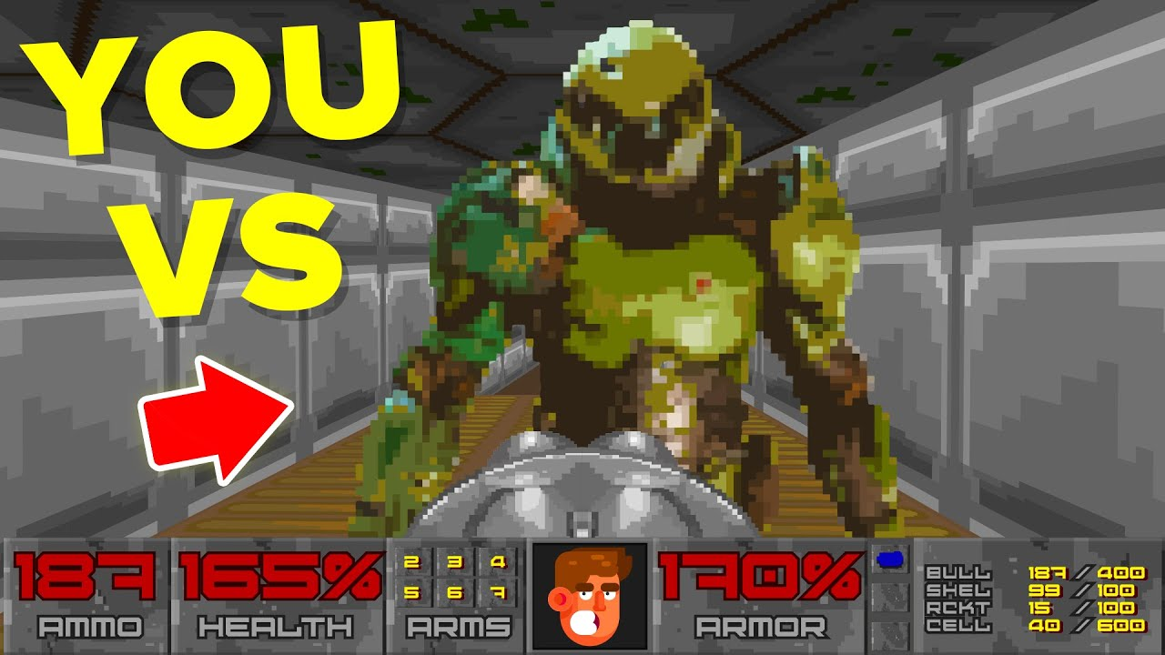 Download YOU vs DOOMGUY - Could You Defeat Him? (Doom Eternal Video Game) || FUNNY ANIMATION
