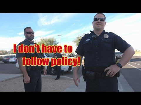 Chandler, AZ PD 1st Amendment Audit [I don't have to follow policy]