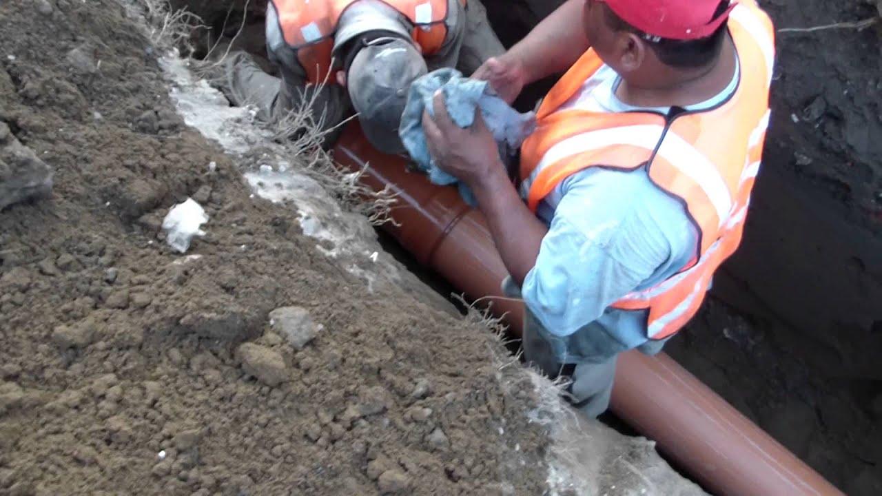 Como colocar tubo de pl stico para drenaje sanitario - Tubo pvc sanitario ...