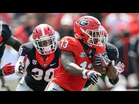 Georgia Bulldogs Spring Practice | Day 1 Highlights | #SicEm18