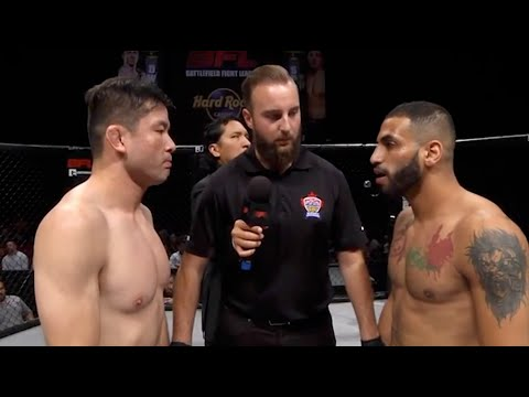 'A very close fight between 2 professional Featherweights in Battlefield Fight League'