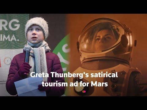 Satirical Mars tourism ad by Greta Thunberg's Fridays for Future