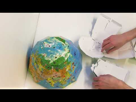 Discovery Globe: Build-Your-Own Globe Kit Timelapse