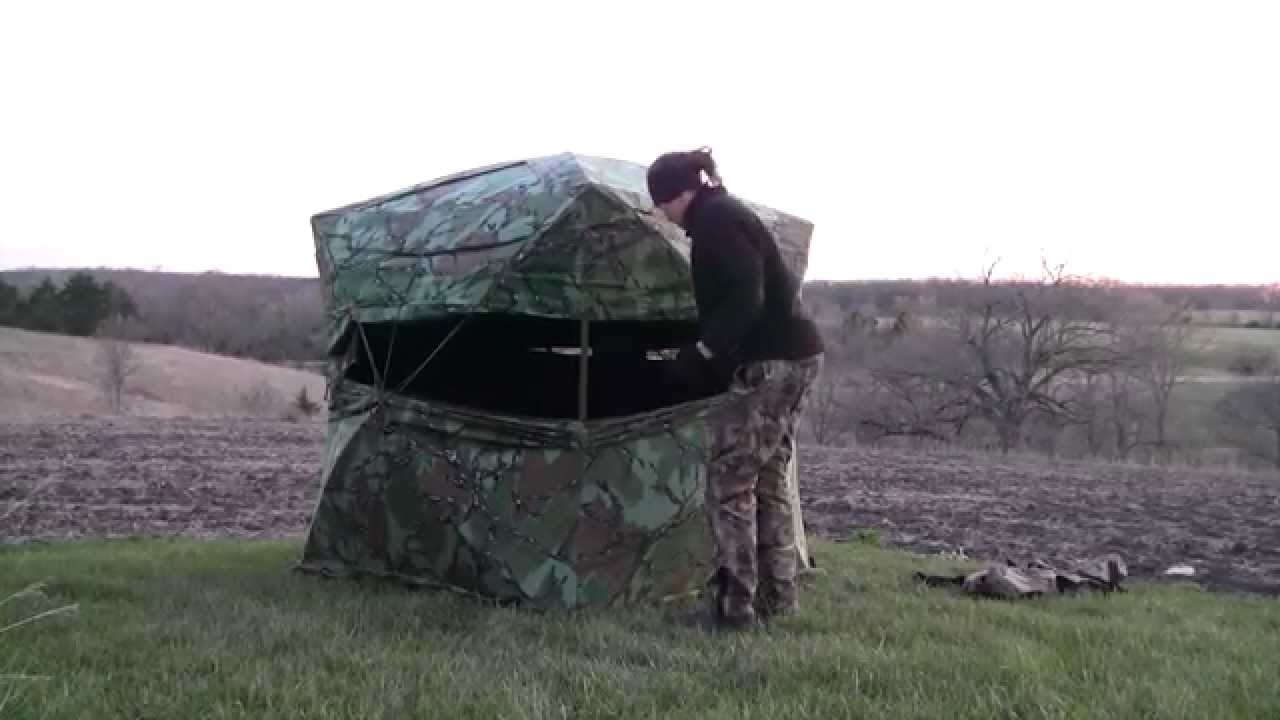 How To Set Up A Hub Style Ground Blind Turkey Hunting