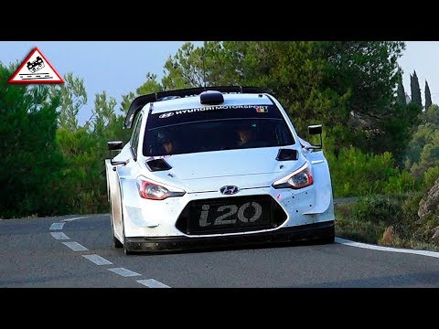 Test Day Thierry Neuville Hyundai WRC before RallyRACC 2018 [Passats de canto]