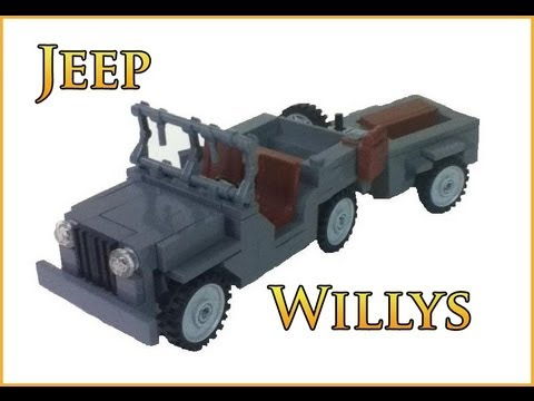 Lego Willys Jeep With Trailer Youtube