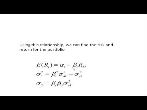 The Single Factor and Single Index Models von YouTube · Dauer:  27 Minuten 13 Sekunden