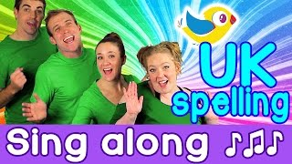Sing Along - Colours Song for kids, with lyrics (UK spelling)