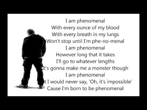 Eminem - Phenomenal Lyrics * Best lyrics song*