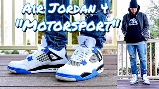 "HOW TO STYLE - AIR JORDAN RETRO 4 IV ""MOTORSPORT"" - ON FEET & OUTFIT"