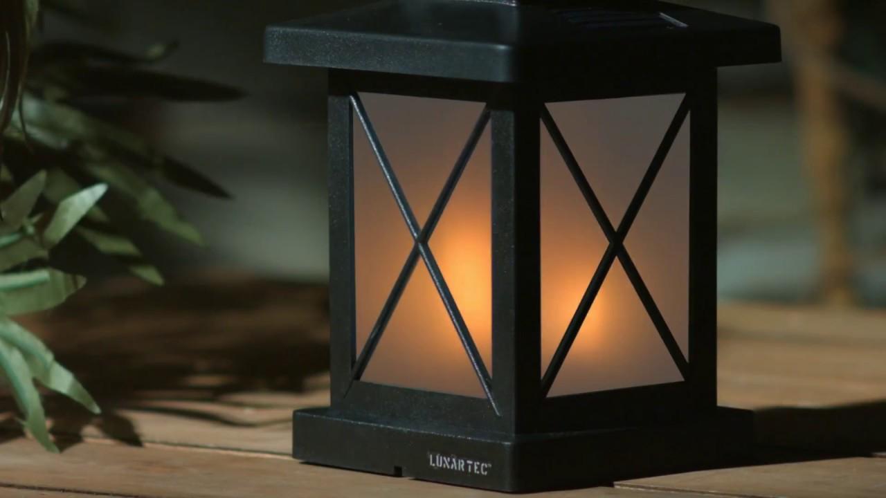 Solarleuchte Außen Garten LED Laterne Flackernde Flammenlampe Licht B6G2