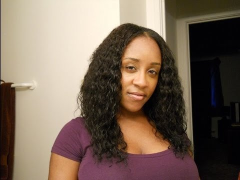 Evertress Chocolate Hair Wet N Wavy Sew In Wig Tutorial