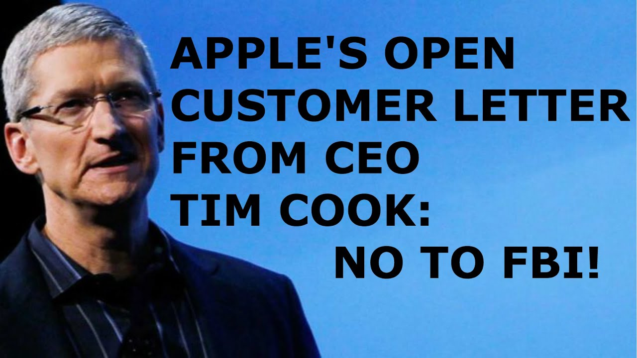Apple s Customer Letter from Tim Cook