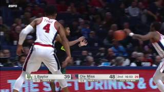 Ole Miss vs Baylor Basketball Highlights 1-28-17