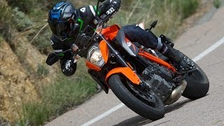 2014 KTM 1290 Super Duke vs Ducati Monster Part 2 - MotoUSA