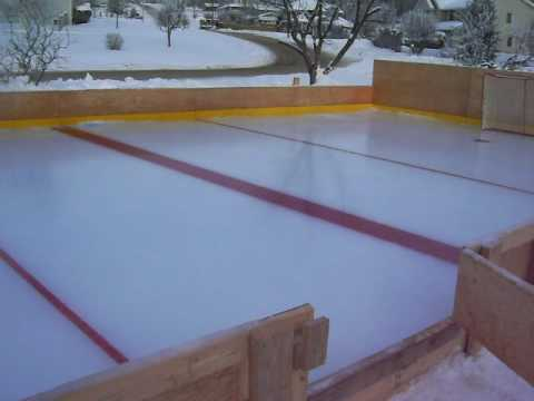 Homemade ice rink Quesnel - YouTube