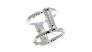 Sevilla Silver Reversible Negative Space Ring