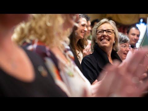 Elizabeth May Unveils Green Party Platform In Toronto