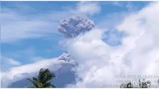 Gunung agung erupsi lagi pada tanggal 13 februari 2018