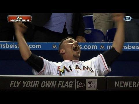 Fernandez reacts to Stanton's clutch shot