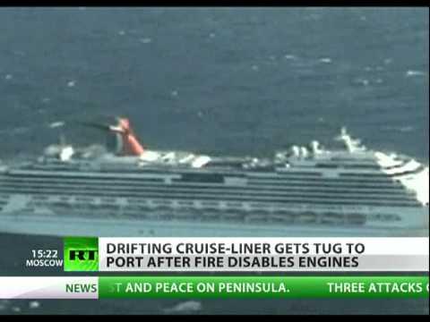 Giant Carnival Splendor Cruise Ship Stranded After Engine Fire - Stranded cruise ship