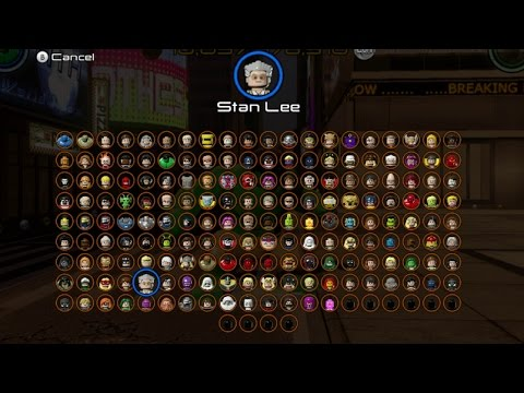 marvel lego how to unlock all characters