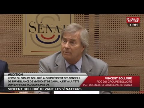 Audition en direct de Vincent Bolloré - Les matins du Sénat (22/06/2016)