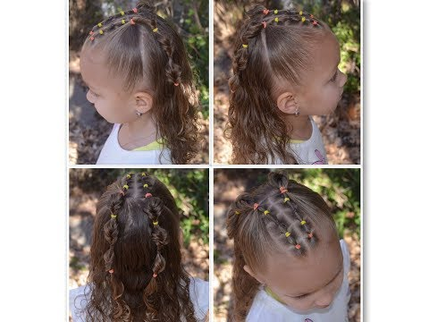 easy style for girls, half up hairstyle, girls style, elastic styles