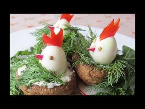 Новогодние блюда 2017. Блюда из яиц. Фаршированные яйца.