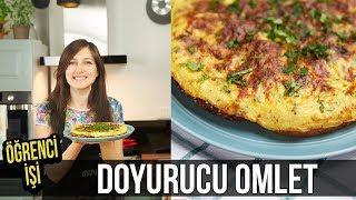 Öğrenci İşi: Doyurucu Omlet (Omlet Pizza) nasıl yapılır? | Merlin Mutfakta Yemek Tarifleri