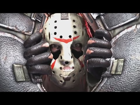 Mortal Kombat X - Jason Voorhees Performs All Intros, X Ray Moves, Victory Poses and Fatalities