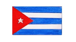 How to draw Cuban flag