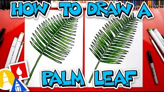 How To Draw A Palm Leaf  - #stayhome and draw #withme