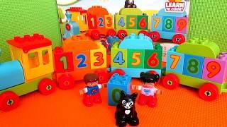 Лего Дупло 10847 Поезд Считай и играй/LEGO Duplo 10847 Number Train Unboxing