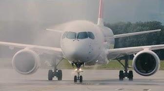 Arrivée du nouveau C Series de SWISS à Genève Aéroport