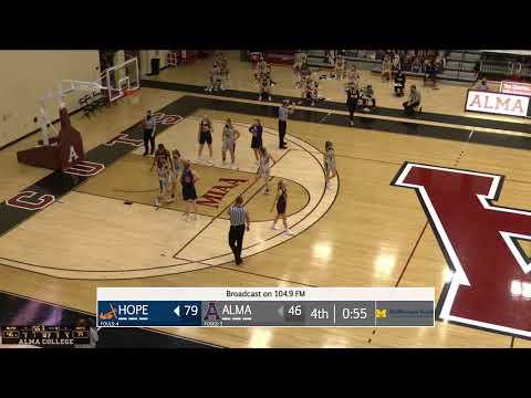 Women's Basketball: Alma College vs. Hope College