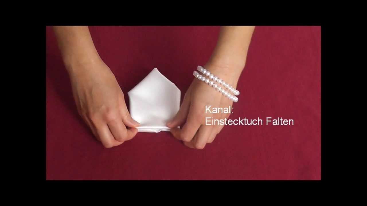 Bevorzugt Einstecktuch Falten - Verschiedene Falttechniken - ASMR - YouTube XK18