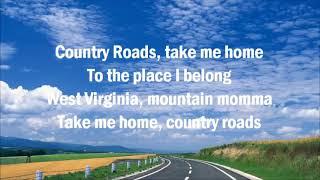 John Denver  Take Me Home Country Roads  with Lyrics 480p video