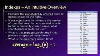 Database Lesson #7 of 8 - Database Indexes