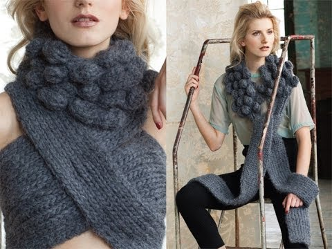 #41 Buttoned Cowl, Vogue Knitting Crochet 2012 Doovi