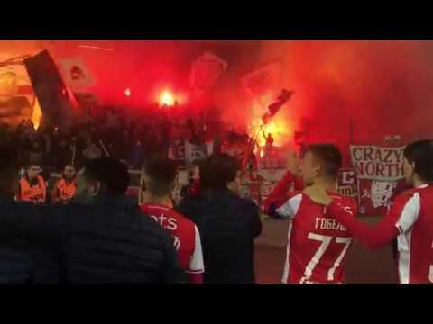 Delije - Podrška igračima pred odlazak u Pariz | Crvena zvezda - Mladost Lučani 2:1
