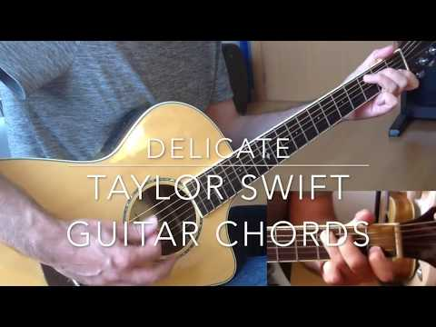 Delicate Taylor Swift guitar tutorial