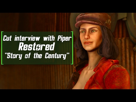 Fallout 4 Mods - Piper Interview Restored