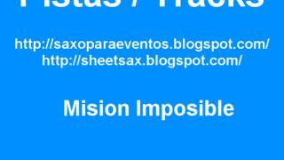 Partitura y pista de Mision Imposible (Sheet-Track-Playalong)