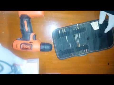 Destornillador/Taladro Black and Decker LD008 (Unboxing y Prueba)