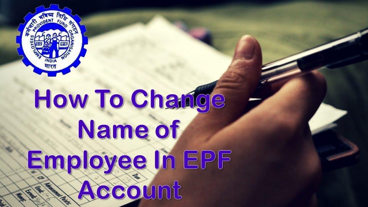 Epf Name Correction Form Pdf