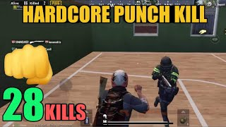 World Record In Hardcore Mode | 28 Kills Solo Vs Squad | PUBG Mobile
