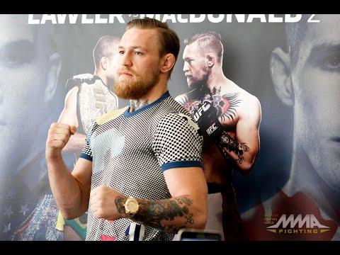Conor McGregor UFC 189 World Tour LA Media Scrum